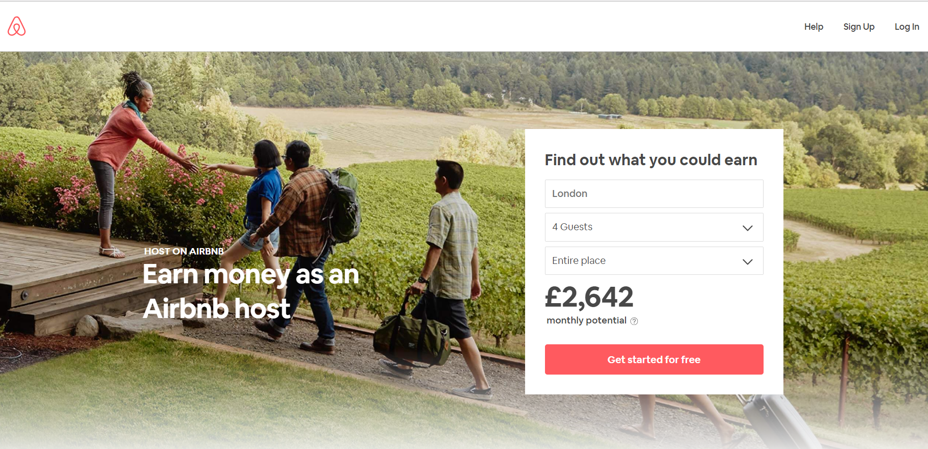 AirBNB Landing Page 1 - Build the Perfect PPC Landing Page: Best Practice & Examples