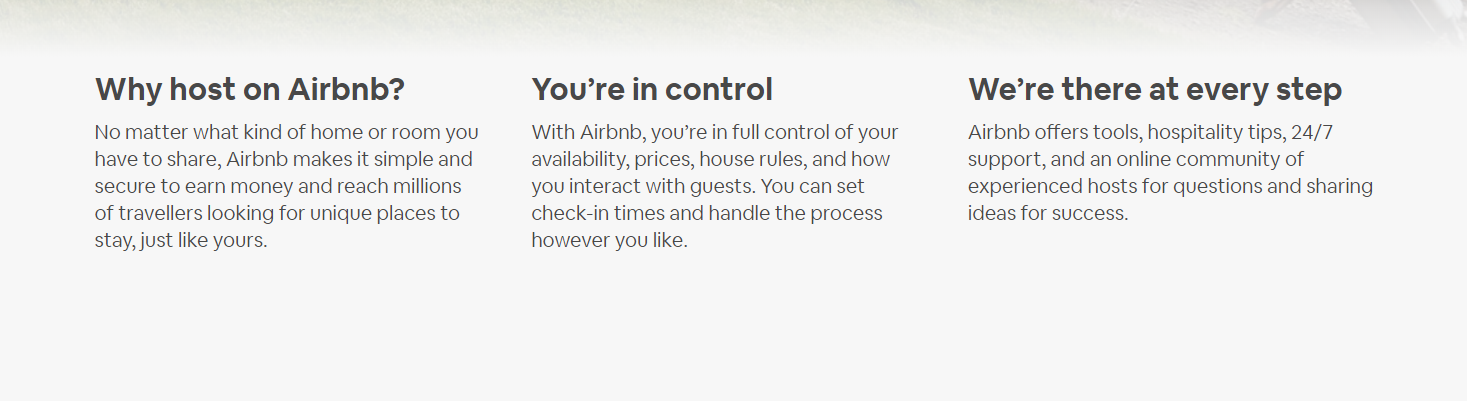 AirBNB Landing Page 2 - Build the Perfect PPC Landing Page: Best Practice & Examples