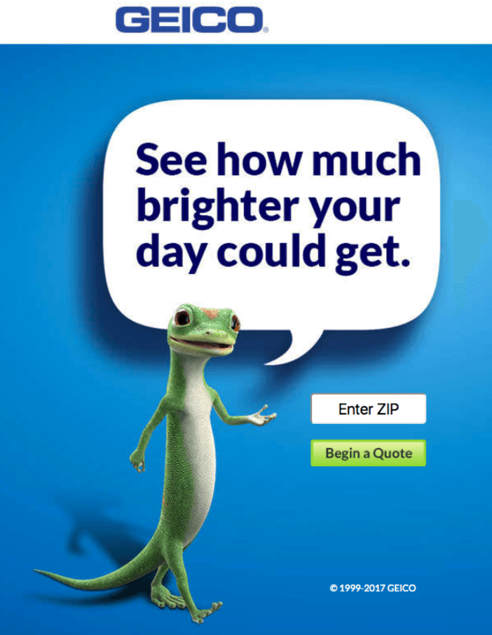 Geico Landing Page - Build the Perfect PPC Landing Page: Best Practice & Examples