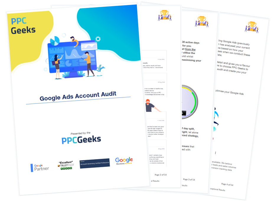 Free Google Ads Account Audit Report by the PPC Geeks
