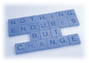 Image showing the words Nothing Endures But Change - you will need to be able to and Be Prepared to Adapt with your Covid-19 Rebound Strategy