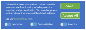Image showing the cookie consent form