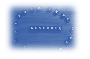 Image showing tiles that read out the word 'November' as this blog article is on PPC News November 2020