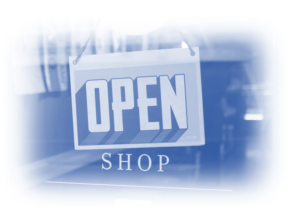Image showing a shop sign that says 'open' - is your business as open for business as you would like it to be? Remarketing should be a huge part of your business ad spend