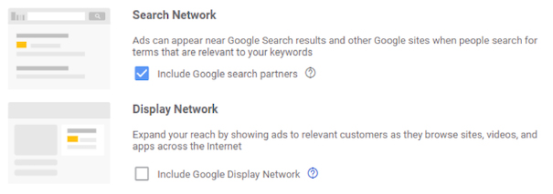 Search partner network
