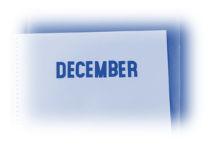 Image showing a work book open with December written on it to signify this is about what happened in December -PPC News December 2020 – PPC Geeks Monthly Updates