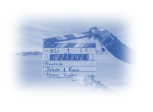 Image showing clapperboard to signify this article is about Video advertising