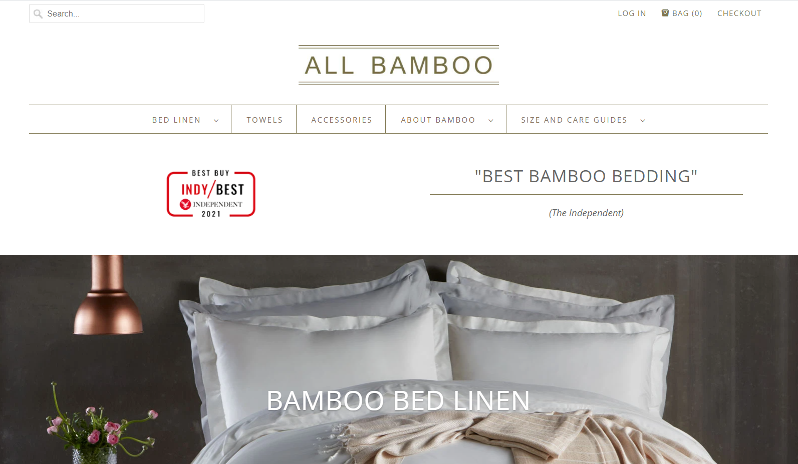 ALL BAMBOO - LANDING PAGE REVIEW