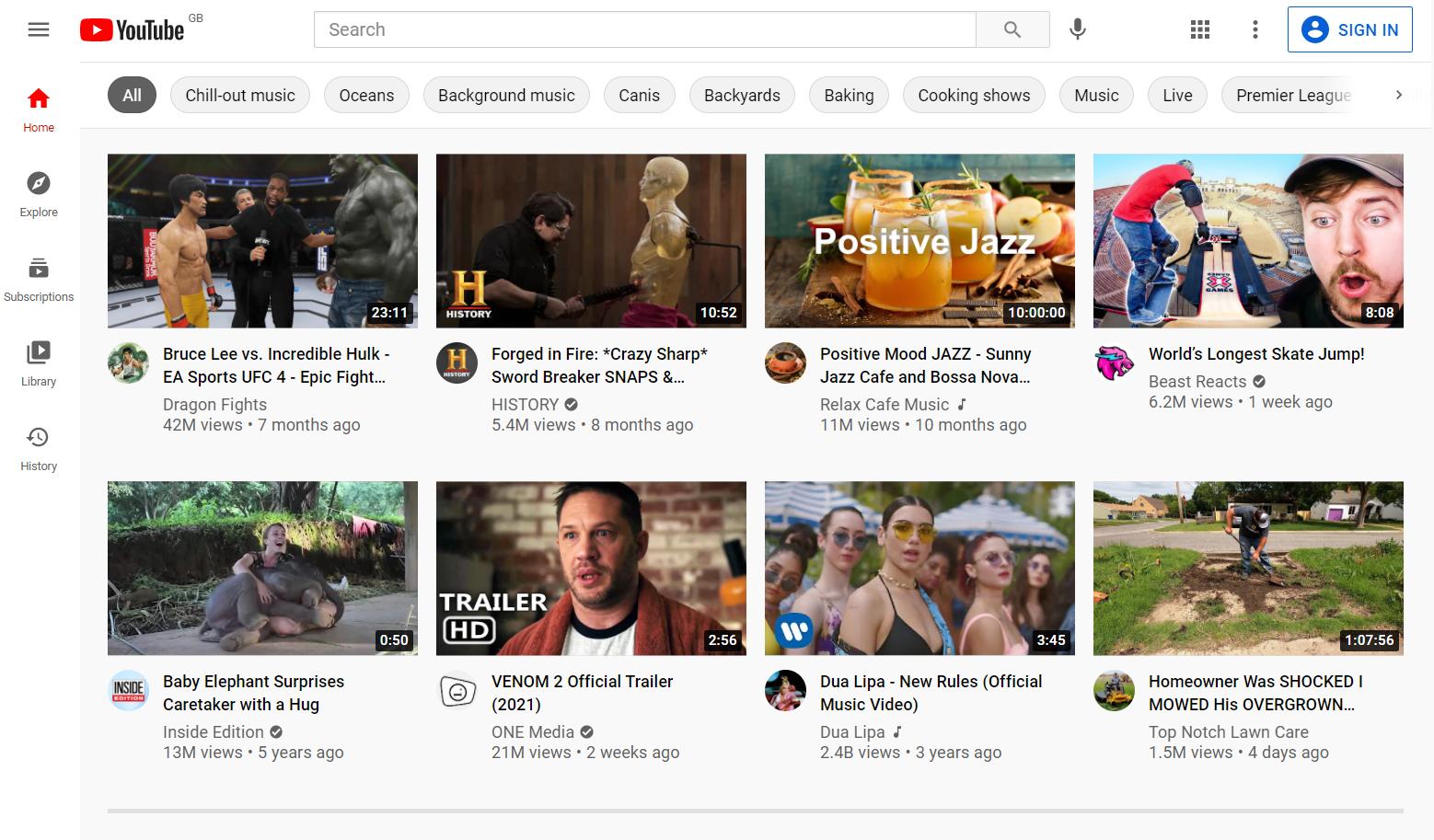 YouTube homescreen - YouTube Ads
