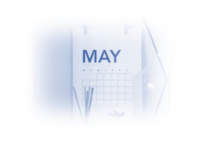 Image showing a calendar showing the month of May 2021 as this blog post is all about what went on in Pay Per Click in May 2021