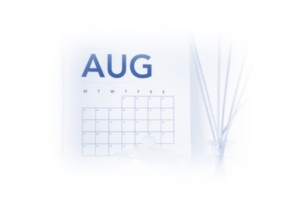 Image showing the month of August on the office calendar to show this post is about PPC News in the month of August 2021