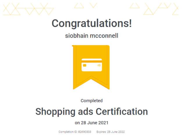 google certification
