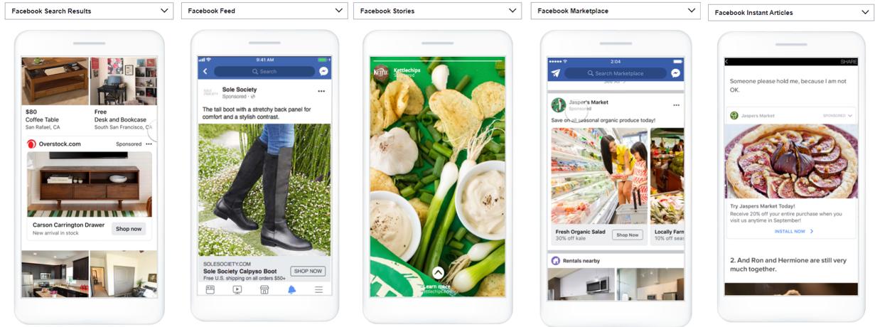 Facebook Ads image besed ads - Shopping Ads