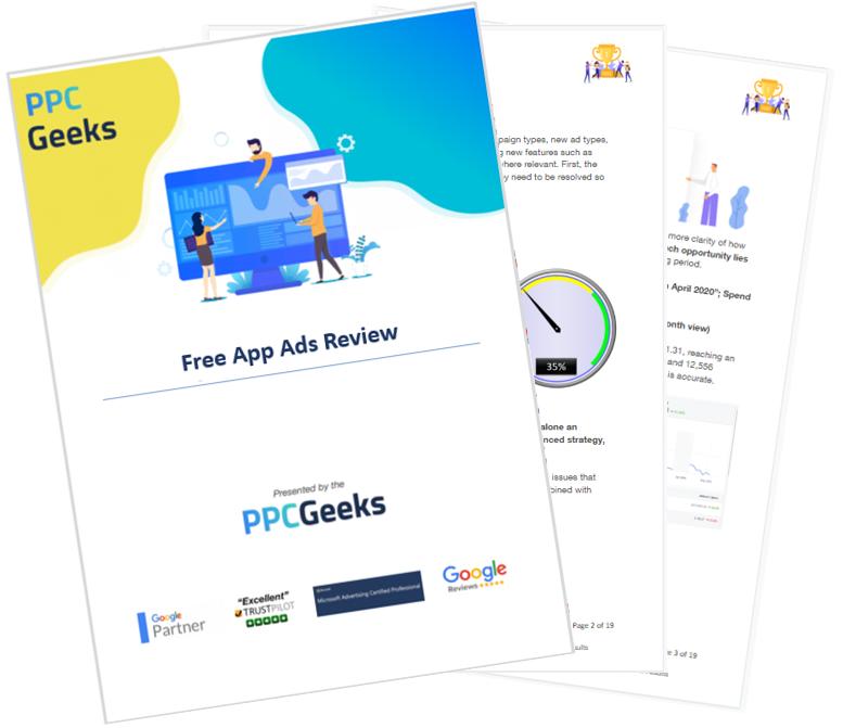 Free App Ads Audit PPC Geeks - App Ads